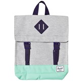 Herschel Supply Co Survey Kids Light Grey Crosshatch/Lucite Green/Par