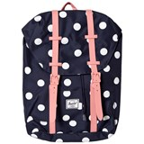 Herschel Supply Co Retreat Youth Peacoat Polka Dot/Strawberry Ice Rub
