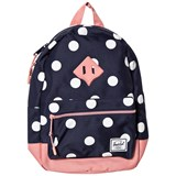 Herschel Supply Co Heritage Kids Peacoat Polka Dot/Strawberry Ice Rub