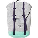 Herschel Supply Co Retreat Youth Light Grey Crosshatch/Lucite Green/P