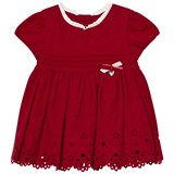 Mayoral Red Heart Embroidered Pleated Dress