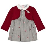 Mayoral Grey Embroidered and Red Bolero Set