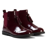 Mayoral Burgundy Leather Biker Boots