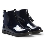 Mayoral Navy Patent Boots with Tassle Detail