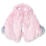 Bandits Girl Pink Shaggy Faux Fur Pink Cape with Pom Pom