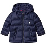 Ralph Lauren Blue and Navy Down Puffer Coat