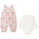 Emile et Rose Pink and Cream Floral Romper and Body Set