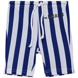 The BRAND Blue and White Stripe Swim Shorts