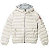 Colmar Pearl with Grey Lining Odissey Down Hooded Bomber Jacket
