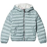 Colmar Polar Blue and Cream Lining Odissey Down Hooded Bomber Jacket