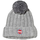 Colmar Grey Melange Branded Bobble Hat