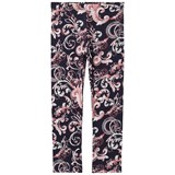Young Versace Navy Baroque and Medusa Print Leggings