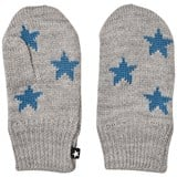 Molo Grey Blue Star Snowfall Mittens