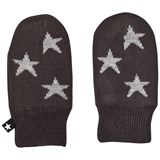 Molo Snowflake Mittens Pirate Black