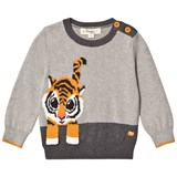 The Bonnie Mob Tiger Intarsia Sweater Greys