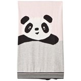 The Bonnie Mob Panda Intarsia Baby Blanket Pale Pinks