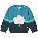 The Bonnie Mob Flash Cloud Intarsia Sweater Teal