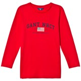 Gant Red NHCT Logo Long Sleeve Tee