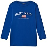 Gant Blue NHCT Logo Long Sleeve Tee