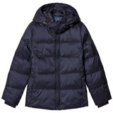 Gant Navy Puffer Coat with Detachable Hood