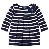 Gant Navy and White Stripe Jersey Dress with Bow