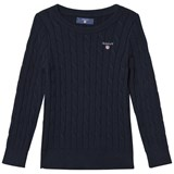 Gant Navy Cotton Cable Jumper