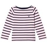 Gant Pink and Navy Stripe Boat Neck Jumper