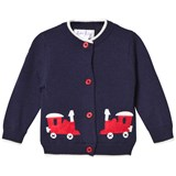 Rachel Riley Navy Train Applique Cardigan