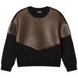 Diesel Black and Gold Knit Sweaters