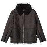Diesel Dark Grey Sheepskin Jacket