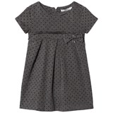 Mayoral Grey Spot Pleat Dress