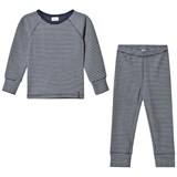 Mini A Ture Blue Nights Striped Pyjama Set