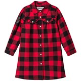 The BRAND Flanell Dress Red Chacked Flanell