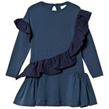 No Added Sugar Blue Jersey Dress with Ruffle Detail
