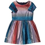 No Added Sugar Pink and Blue Lurex Stripe Dress