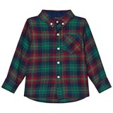 Andy & Evan Navy Red Green Plaid Flannel Shirt