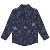 Andy & Evan Navy Galaxy Print Shirt