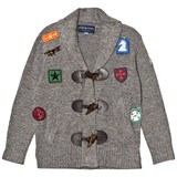 Andy & Evan Grey Patches Toggle Cardigan