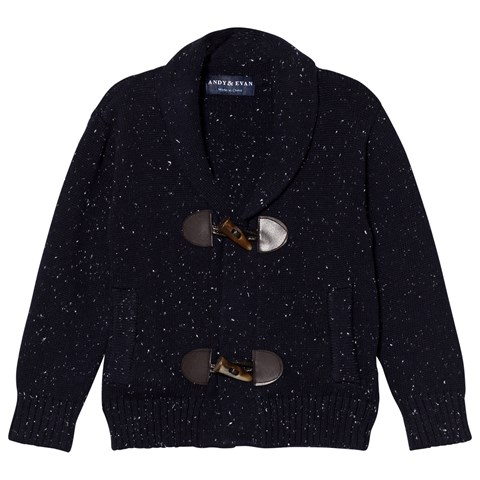 Andy & Evan Navy Slub Toggle Cardigan