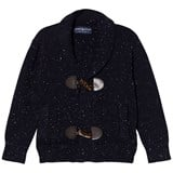 Andy & Evan Navy White Slub Toggle Cardigan