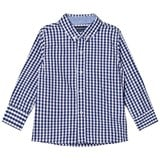 Andy & Evan Navy and White Gingham Button Down Shirt