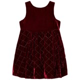 Andy & Evan Red Maroon Quilted Sleeveless Dress
