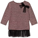 Andy & Evan Maroon Rainbow Dust Sequin Sweater Stripe Tunic