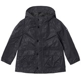 Tommy Hilfiger Black All Over Print Hooded Raincoat