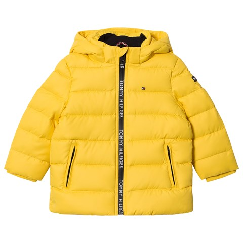 b82176ed5 Tommy Hilfiger Yellow Down Feather Hooded Jacket | AlexandAlexa