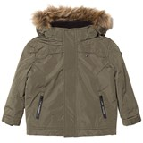 Tommy Hilfiger Khaki Paddeed Hooded Jacket