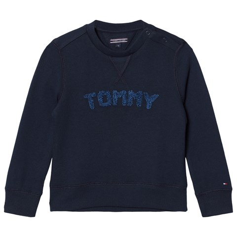 Tommy Hilfiger Navy Branded Sweatshirt