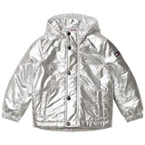 Tommy Hilfiger Silver Hooded Padded Parka