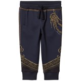 Dolce & Gabbana Navy Military Regalia Print Sweat Pants