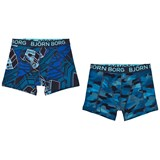 Bjorn Borg 2 Pack of Black and Grey, Camo and Branded Trunks